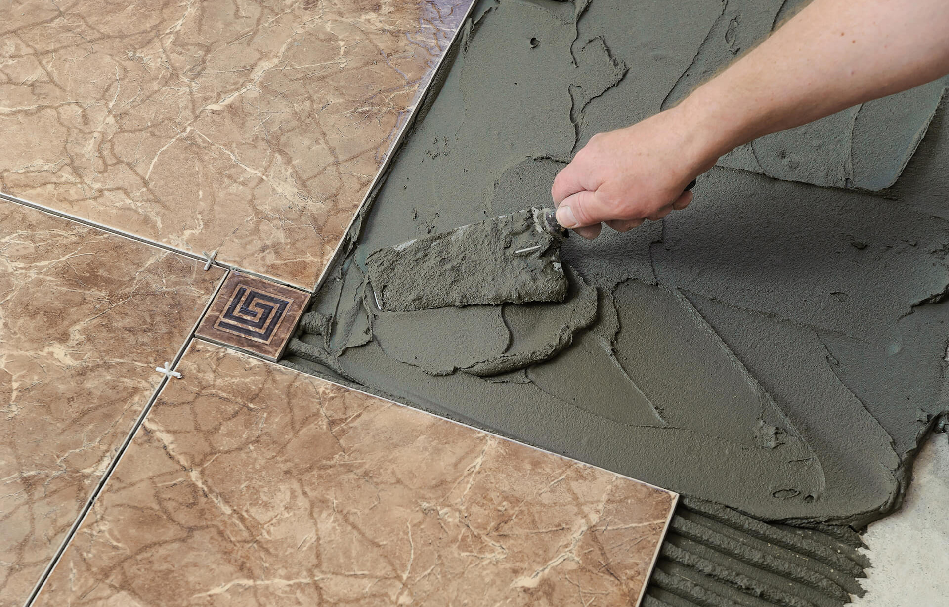 How to tile a concrete floor with ceramic tile